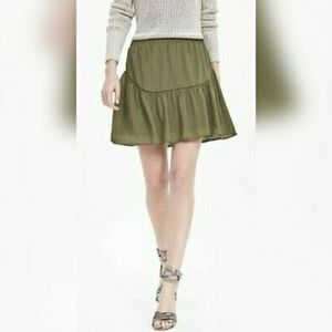 NWT Banana Republic Olive Mini Skirt